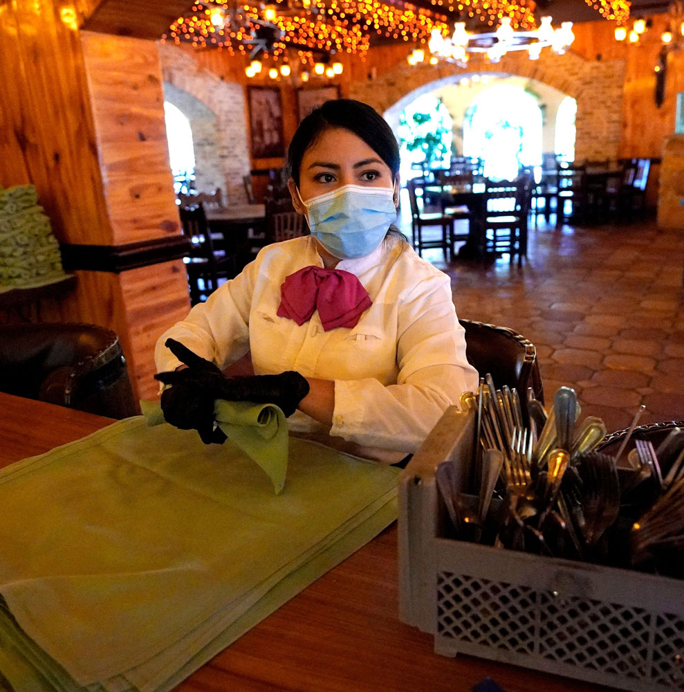 image of woman working in restaurant
